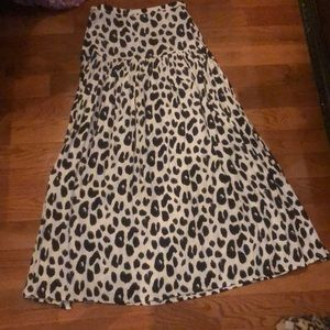 Spell leopard split skirt
